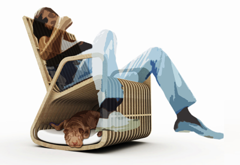 modern doghouse chair