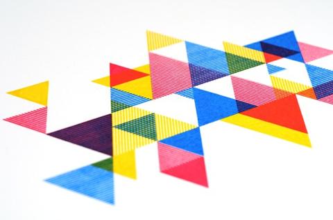 process color triangle print - desTroy