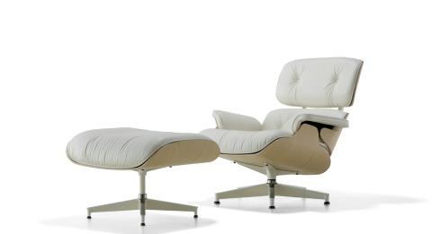 white ash eames lounge chair