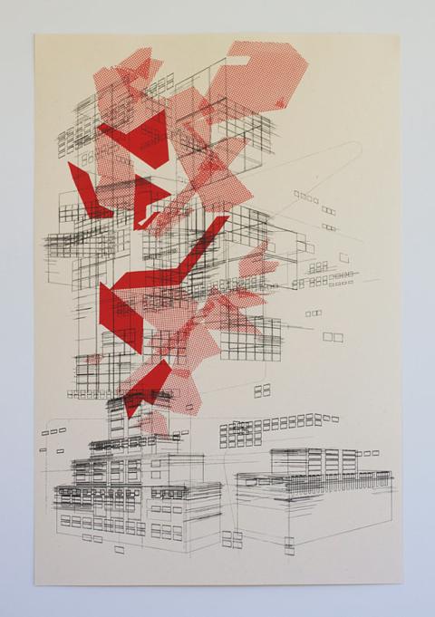 delaflamant square print