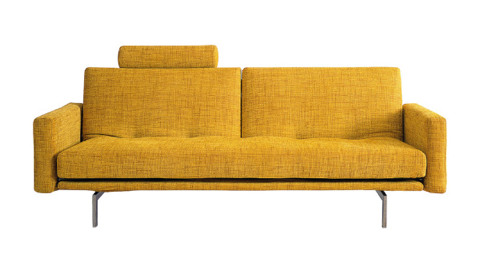 modern yellow sofa