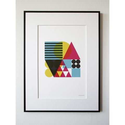 becky hui chan geometric shapes print
