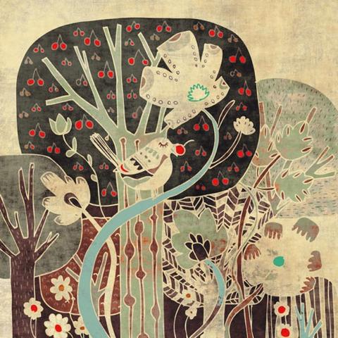 schalle forest print