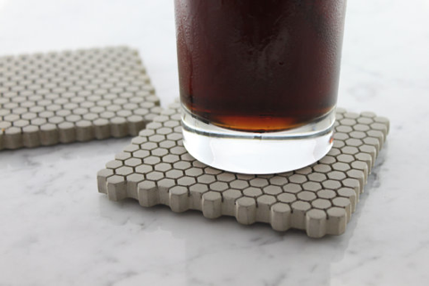 concrete hexagon coaster
