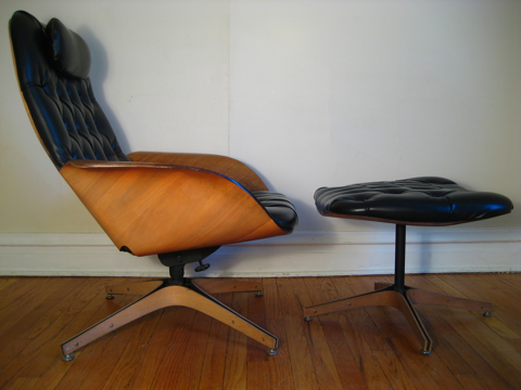 Eames Knock Off Chairs Classic Lounge Chair Ottoman Black Style
