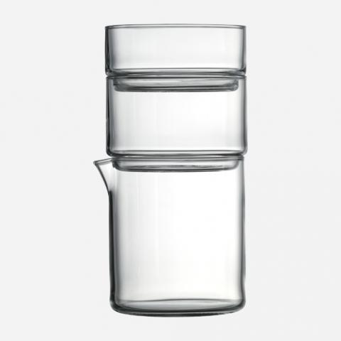trio glass pitcher