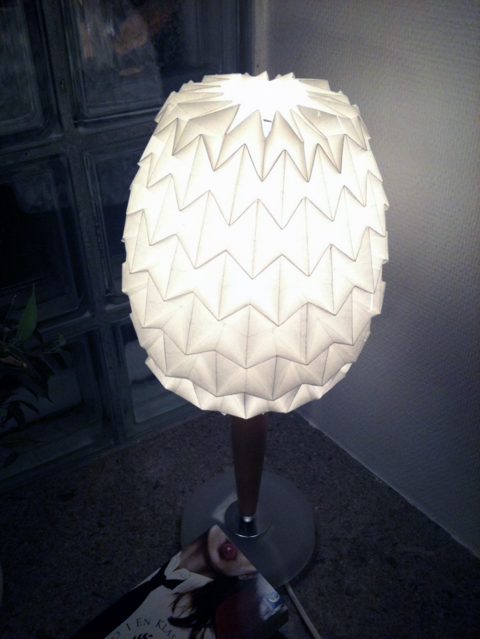diy origami lamp shade. Black Bedroom Furniture Sets. Home Design Ideas