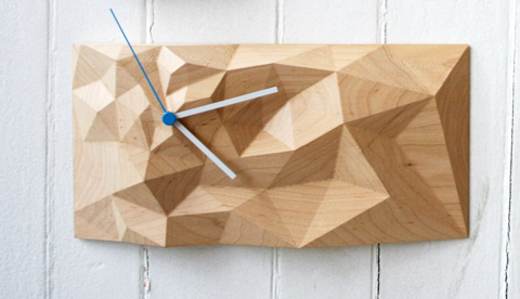 large block clock, modern clock