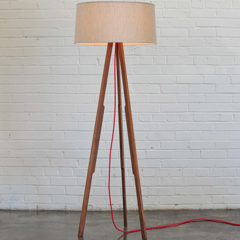 modern tripod lamp cloth cord