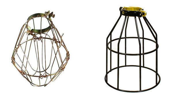 Wire Cage Lighting Fixtures Old Copper 12 Wide Single