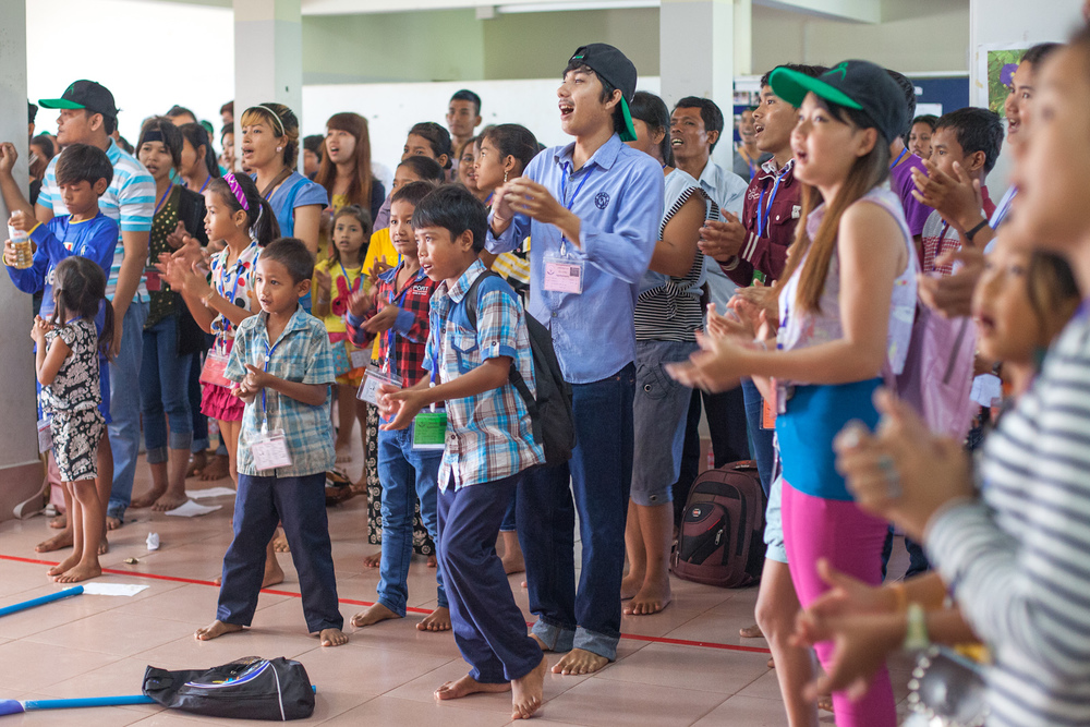Worship, music and even dance are important parts of camp