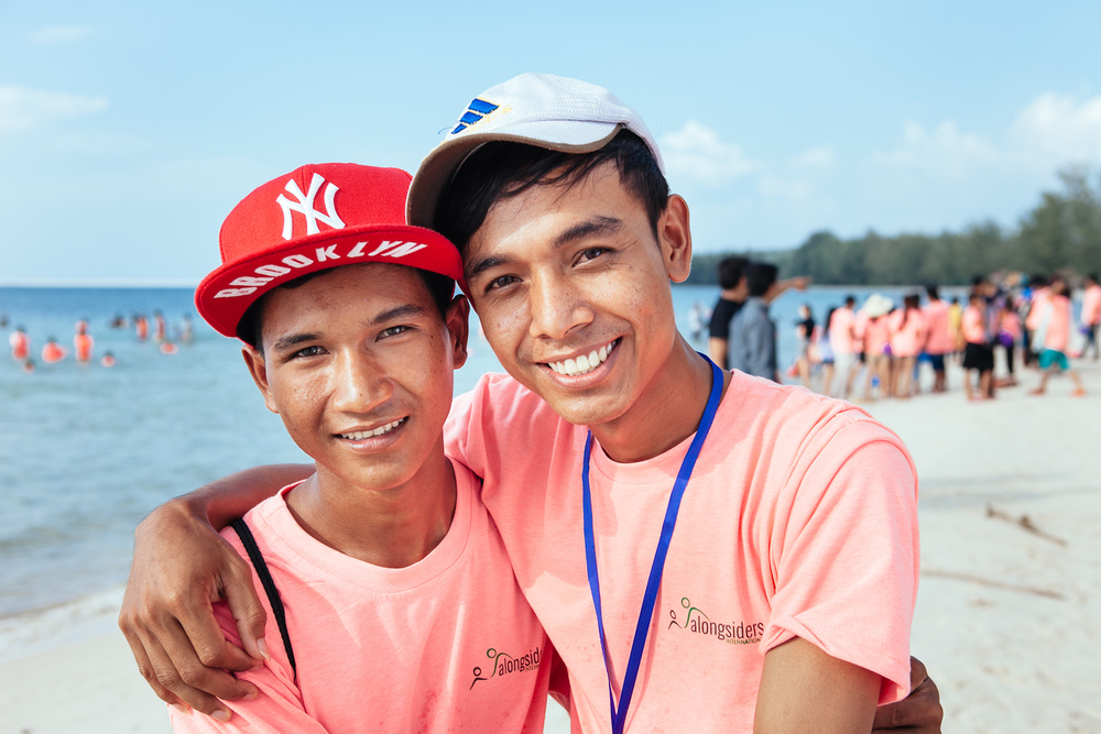 Ni (left) and Sothana (right) at the annual camp this month