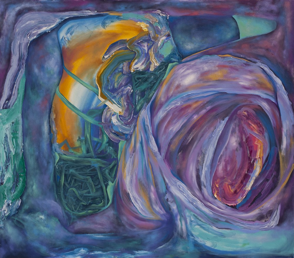 "Slippery Gateway, 72"" x 84"", oil on canvas, 2015"