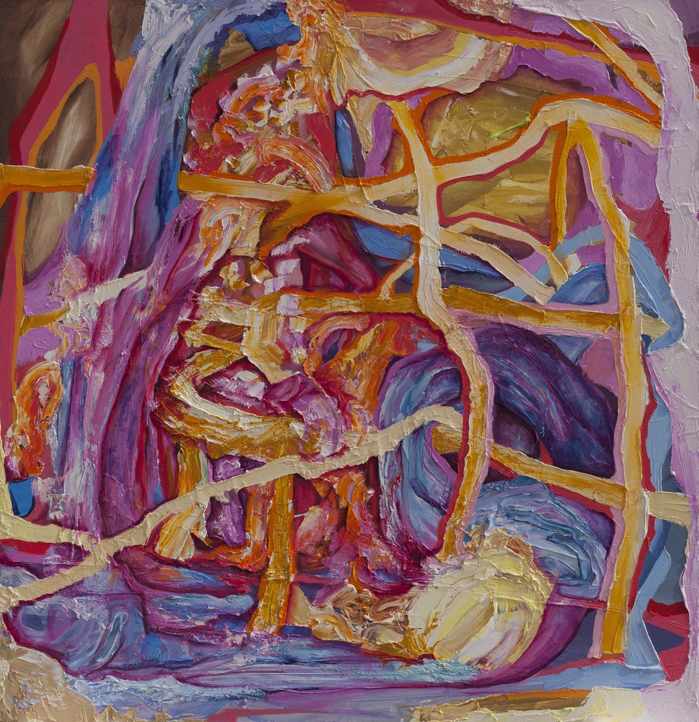 "Fortune Leak, oil on canvas, 50"" x 48"", 2015"