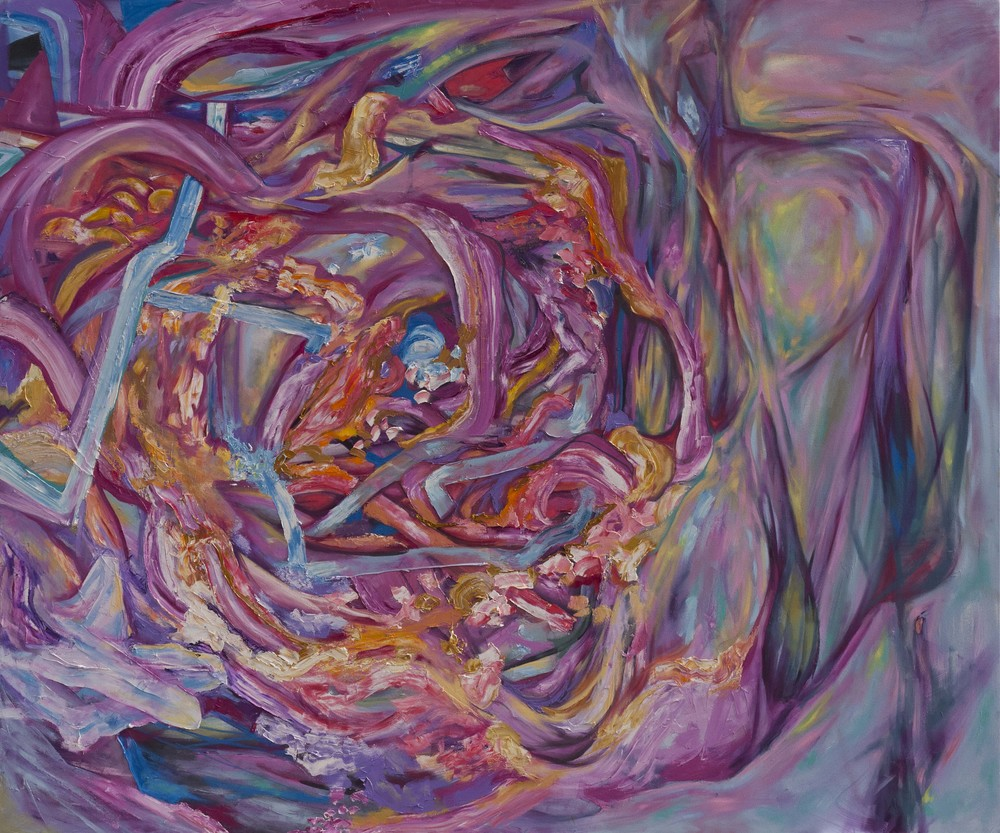 "Gutter Flare, oil on canvas, 84"" x 120"", 2015"