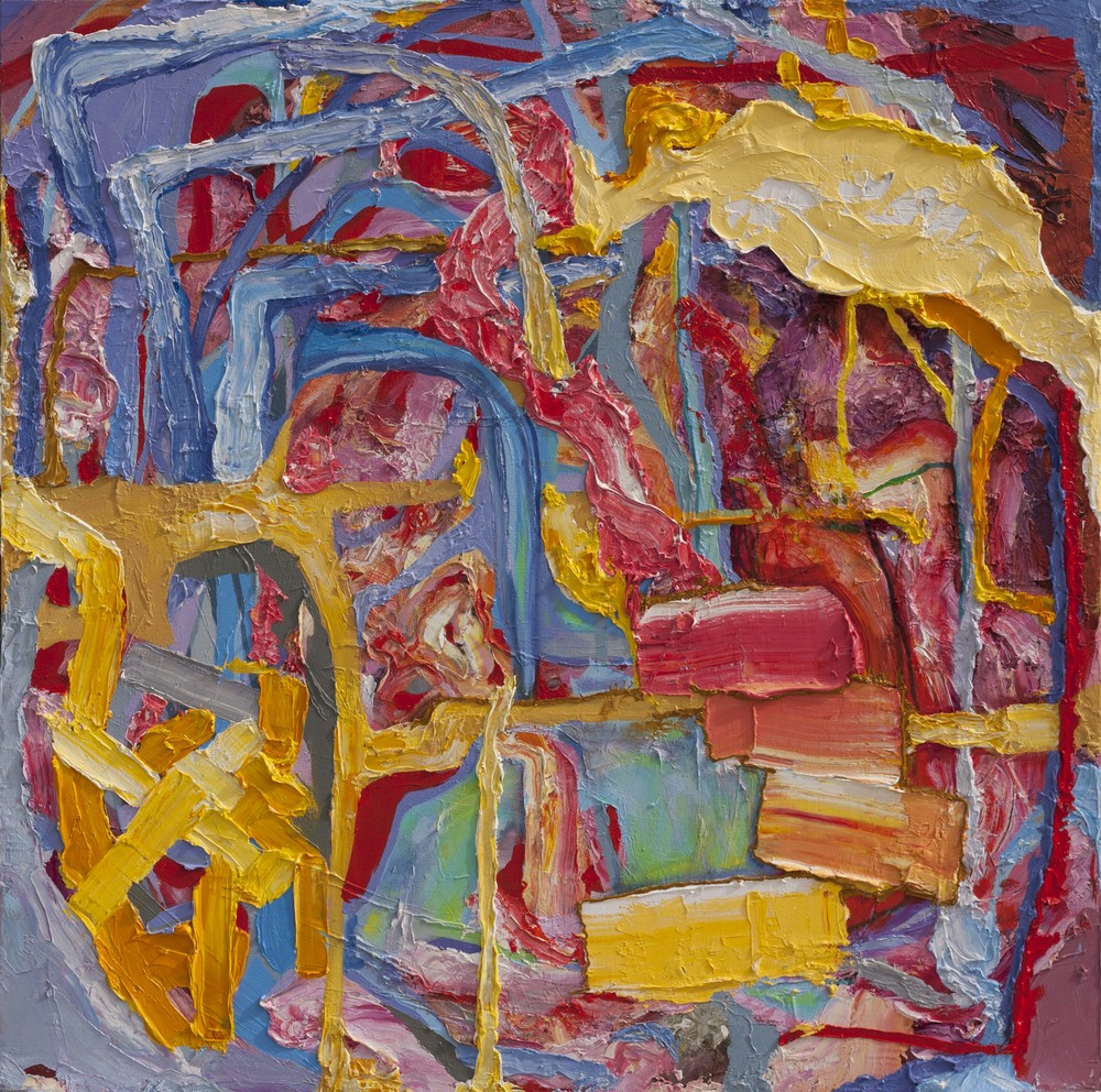 "Capital Stack, oil on canvas, 50"" x 48"", 2015"