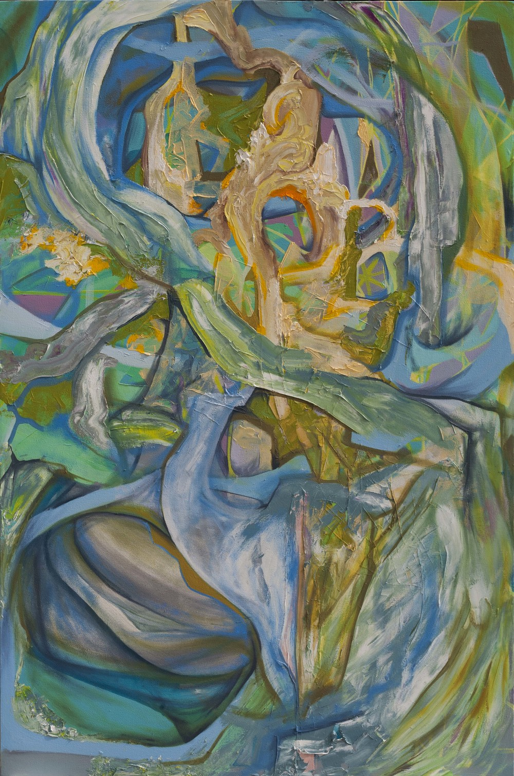 "Gem Guts, oil on canvas, 72"" x 48"", 2015"