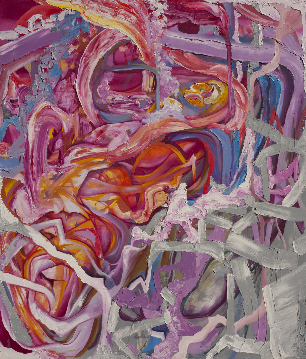 "Intimate Slip, oil on canvas, 84"" x 72"", 2015"