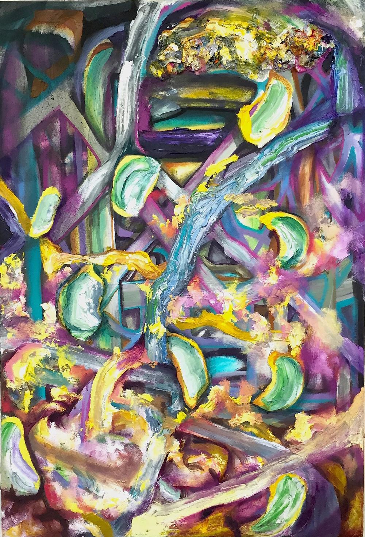 "Null Tumble, Oil on Canvas, 36"" x 24"""