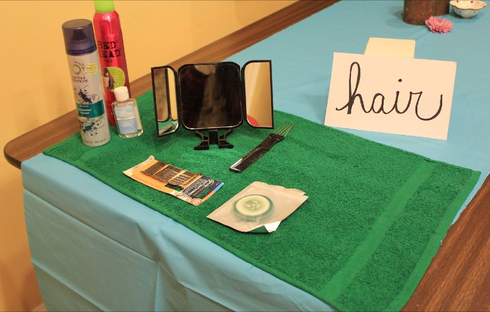 Stations like this one welcomed guests for a little pampering!