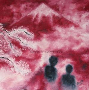 Sakura  500x500mm  $250  Oil on Canvas