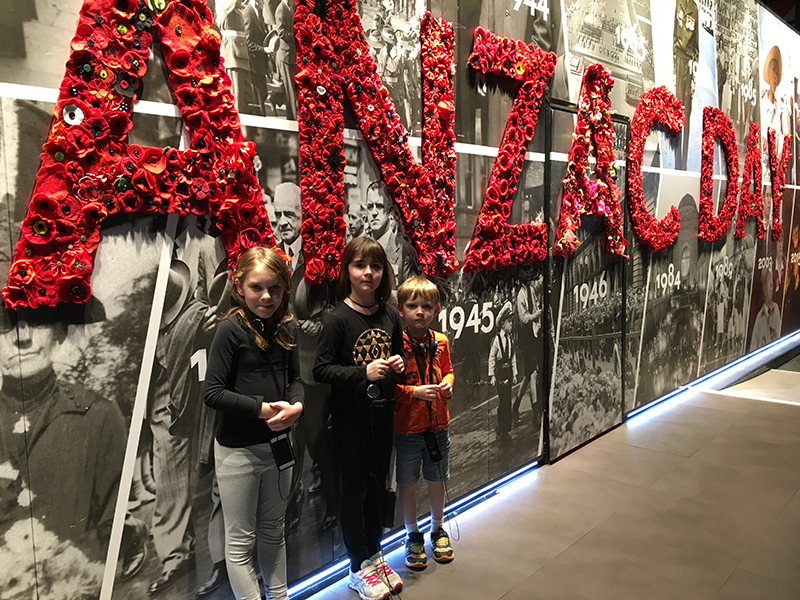 We were very lucky to be able to see the  Spirit of Anzac exhibition  this month. It was a fascinating if sometimes overwhelming exhibit about the wars Australia have been a part of, particularly WW1. The headphones and audio tour made it a very quiet exhibition with everyone just walking, looking and listening. Though Lily and Henry had to take off the headphones a few times because it was little too much for them to process. It has finished now in Brisbane but it is travelling Australia so if it is coming to a venue in your town, I highly recommend seeing it. Use the link above to book your tickets.