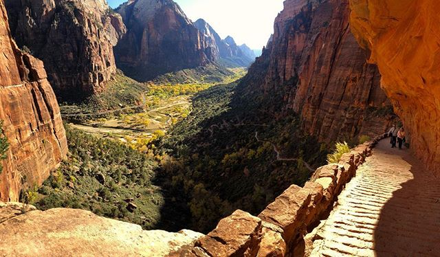 Yesterdays hike to #angelslanding. Hands down one of the most life-changing hikes I've ever done.