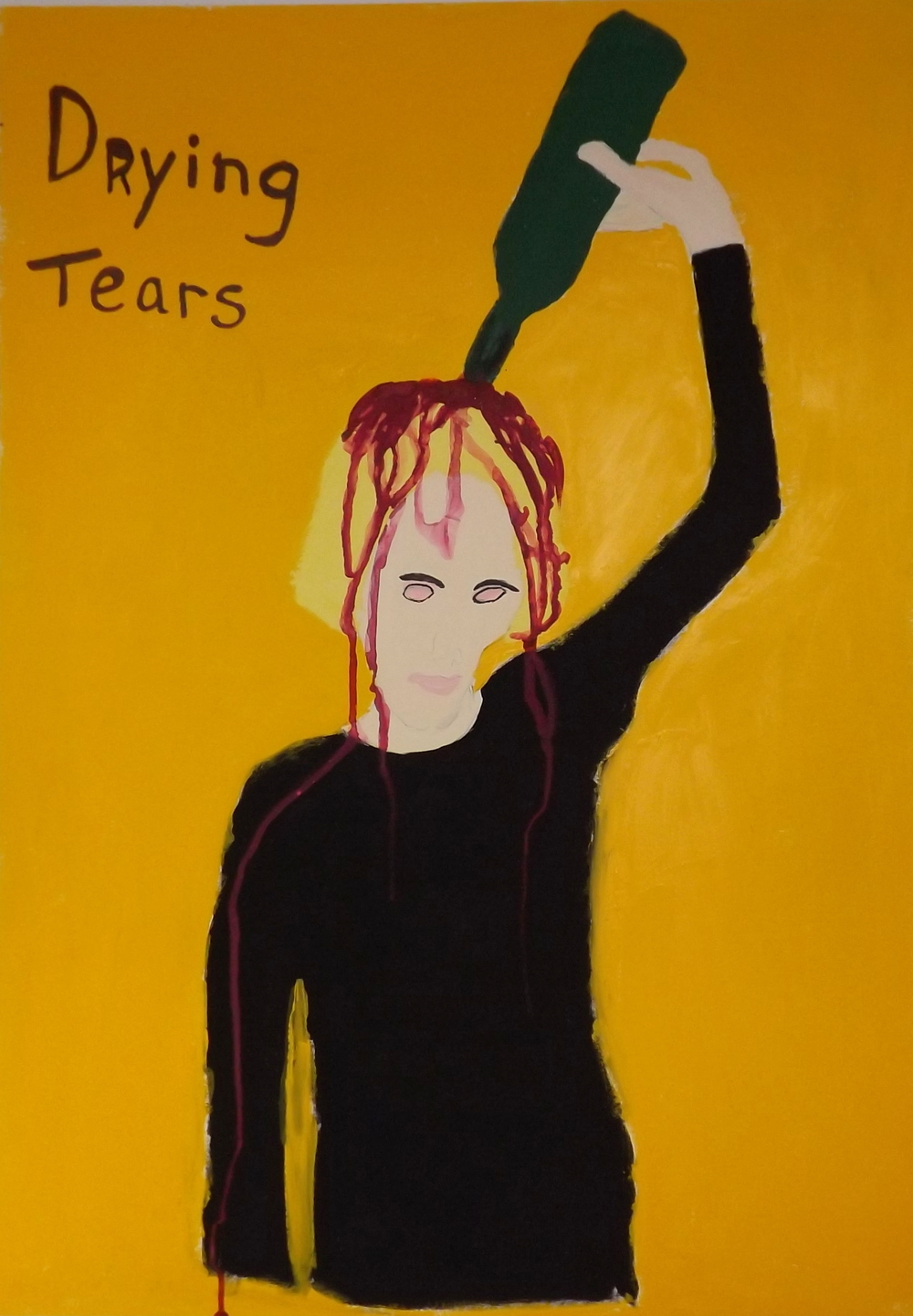 Drying Tears     Gouache on cardboard (2014)