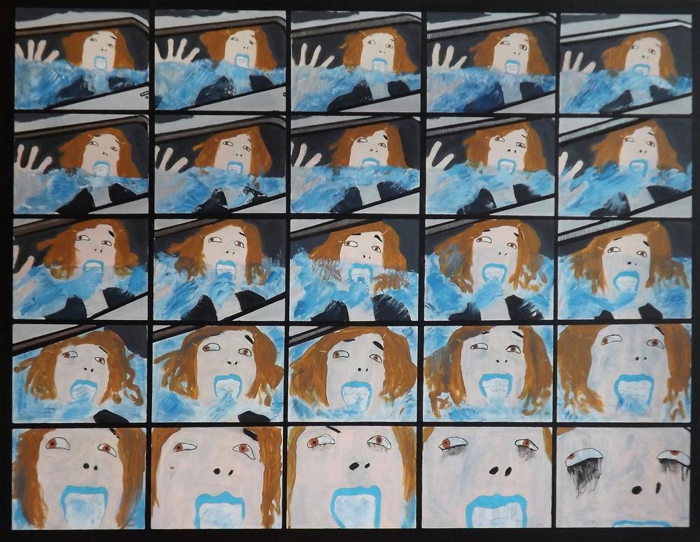 Je sais maintenant que la vie est pourrie     Acrylic on canvas (2014)