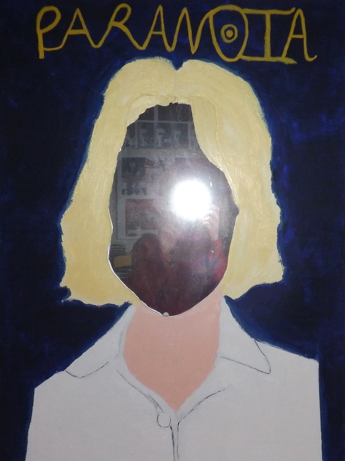 Self Portrait     Acrylic and mirror on canvas (2013)