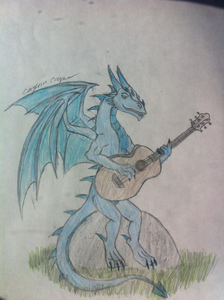 Blue Guitar Dragon