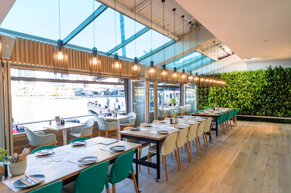 Indoor vertical garden enhances this new Restaurant at Sydney's Darling Harbour