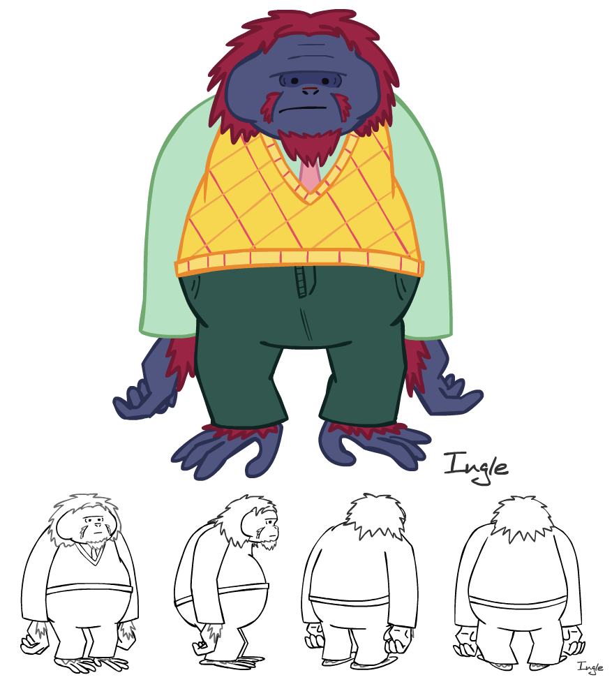 Character design for  Syd and Euripides' Weirdplace