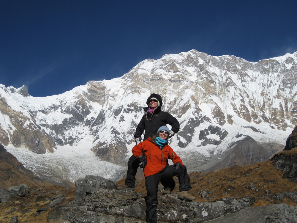 Me and sister Isabella at the Annapurna Base Camp, November 2008.