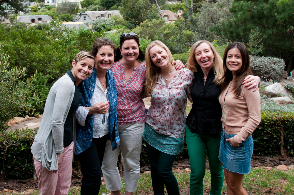 The Cape Town Team - From left to right: Marta, Donatella, Kate, Chiara, Isabella and Natalia