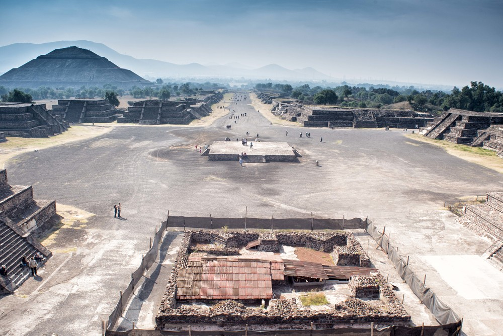 View on the Teotihuacan site, from the Moon pyramid.