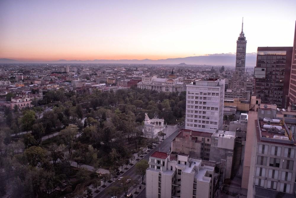 Sunrise on Ciudad de Mexico