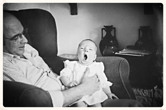 See? I've always been knackered. My Grandpa is holding me up in case I pass out.