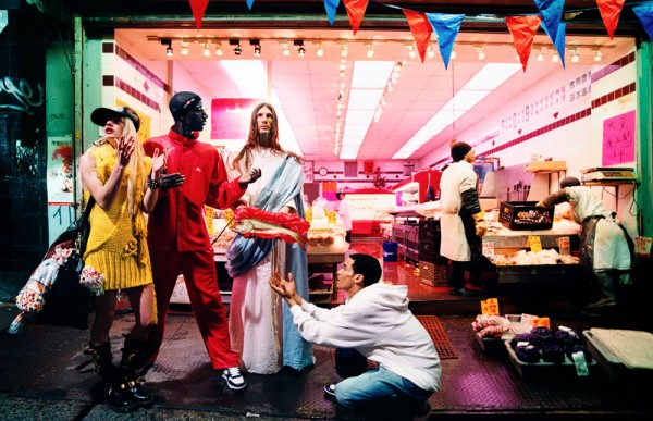 David LaChapelle, Jesus is my Homeboy, Loaves and and Fishes 2003 Chromogenic Print      (c) David LaChapelle