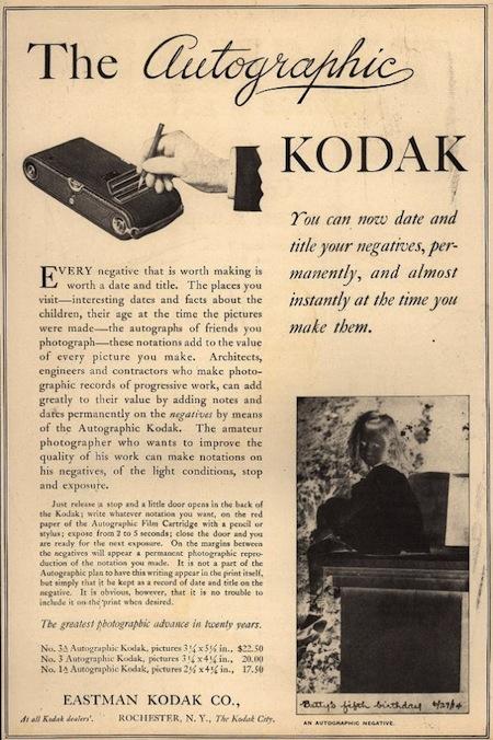 Image credit   :      Autographic Kodak JR.      by      John Levanen      and      No.1A Autographic Kodak Jr.      by      LostBob Photos
