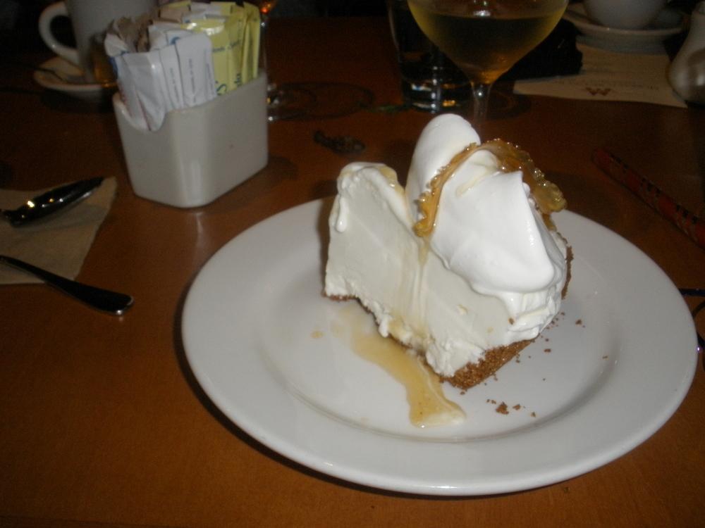 Meyer lemon gelato pie