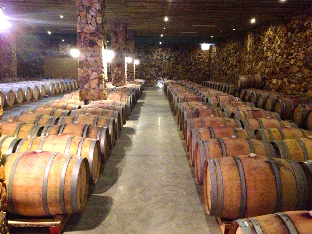 Las Nubes' barrel room
