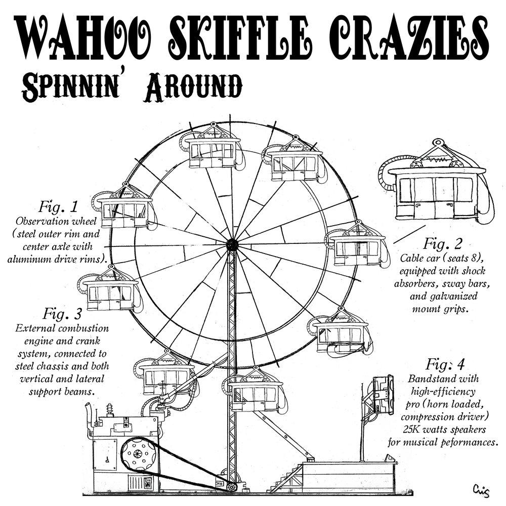 """WAHOO SKIFFLE CRAZIES """"Spinnin' Around) album cover"""