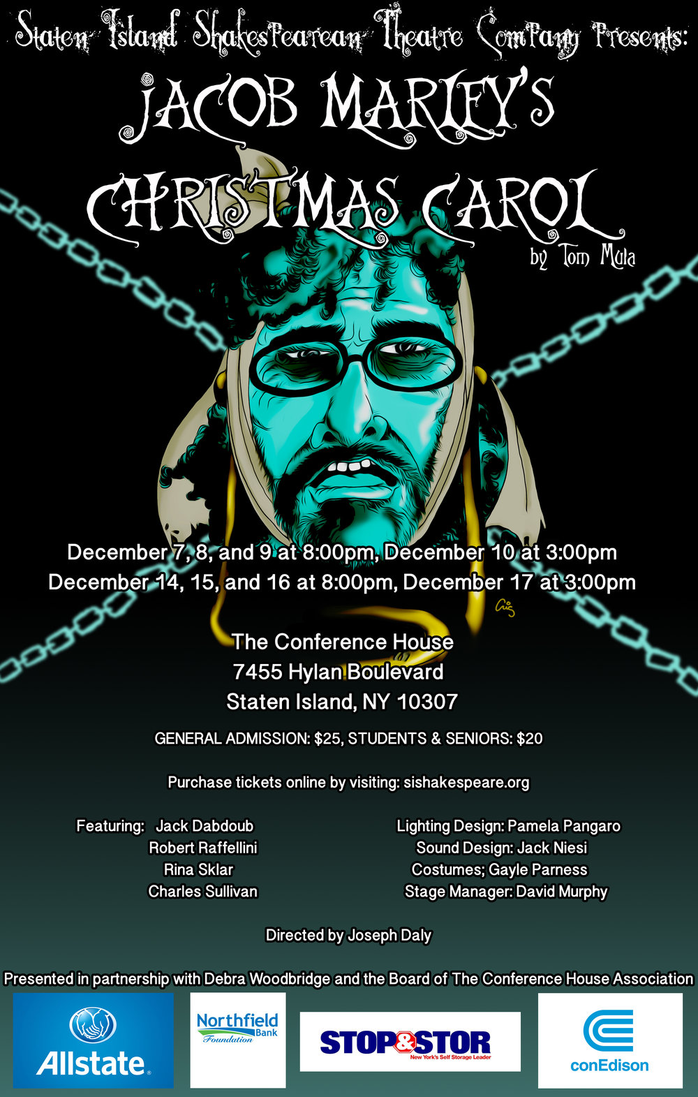 Tom Mula's JACOB MARLEY'S CHRISTMAS CAROL