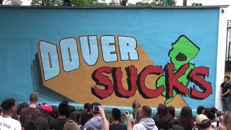 """DOVER SUCKS"" Mural Design - truTV's IMPRACTICAL JOKERS"