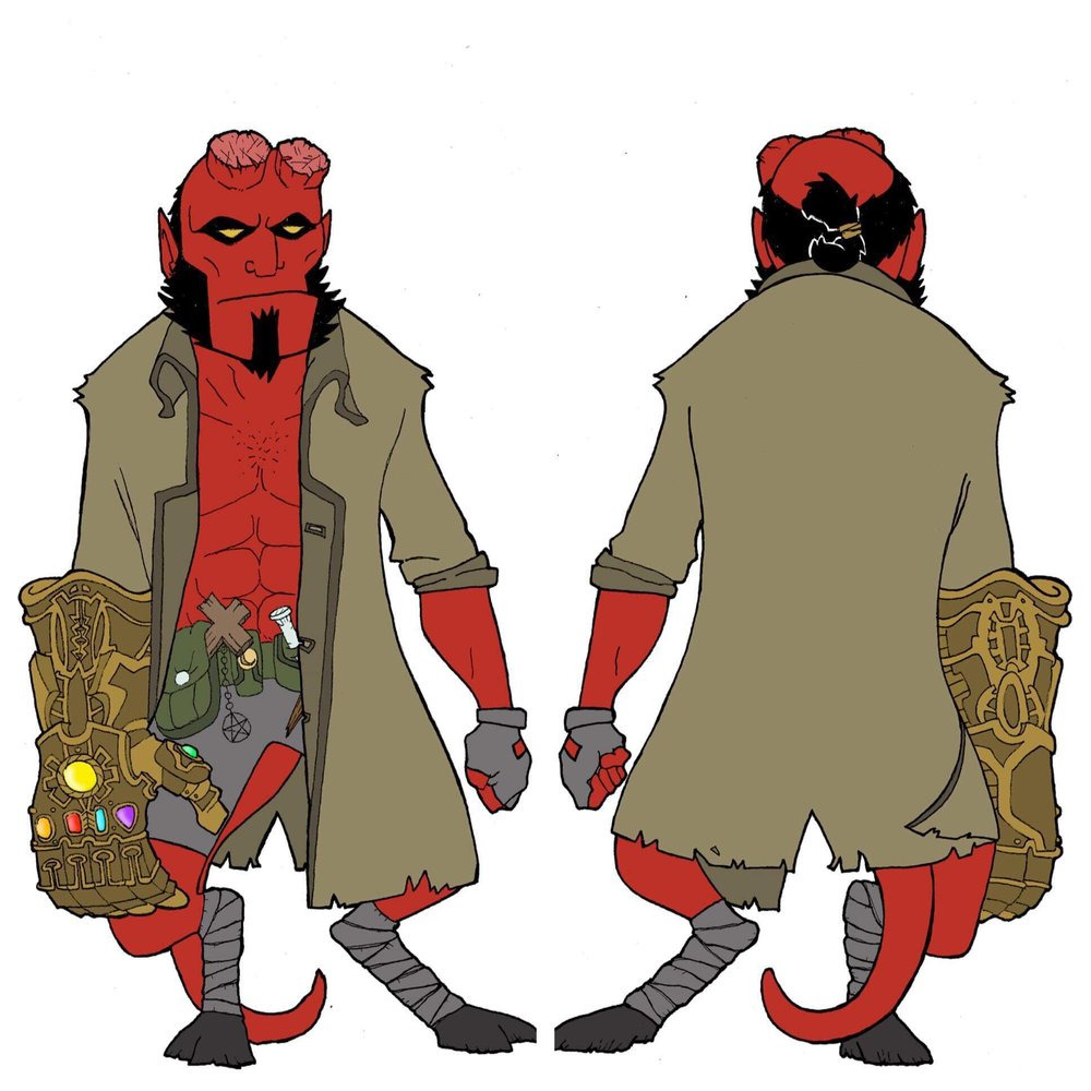 HELLBOY with INFINITY GAUNTLET
