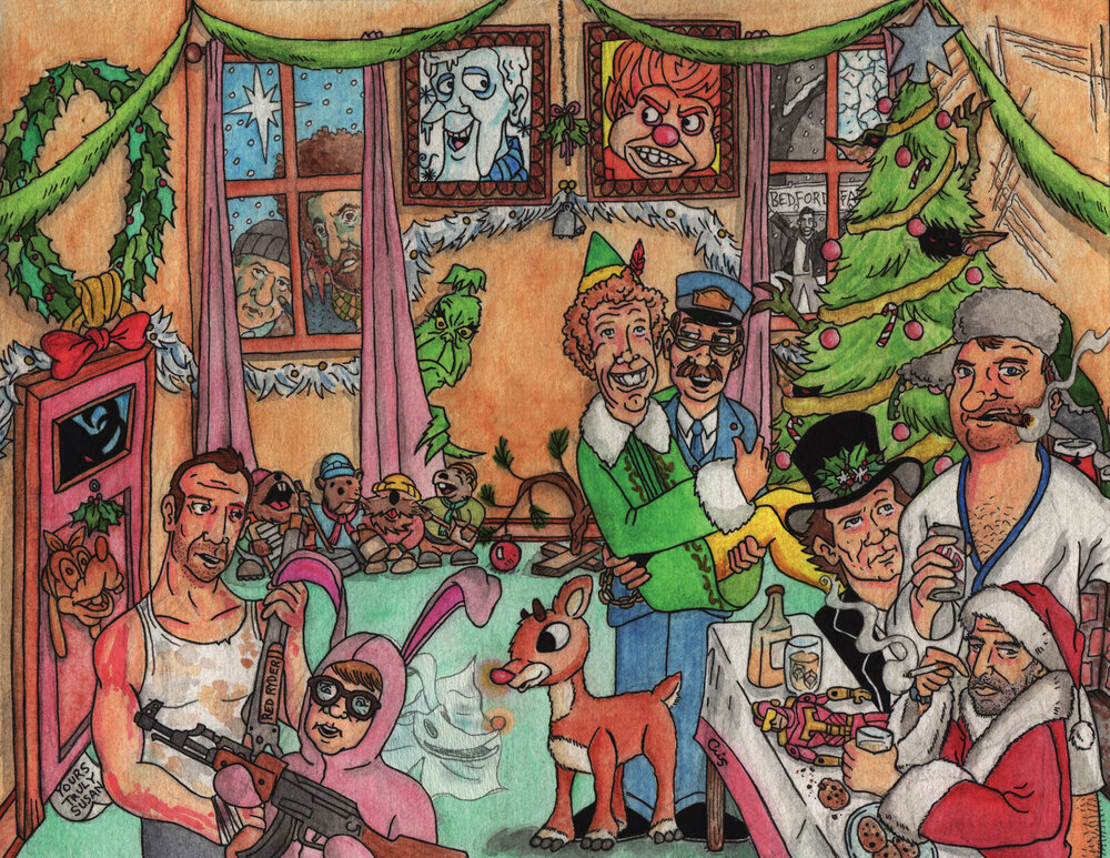 X-Mas Party (2015 limited edition Christmas print)