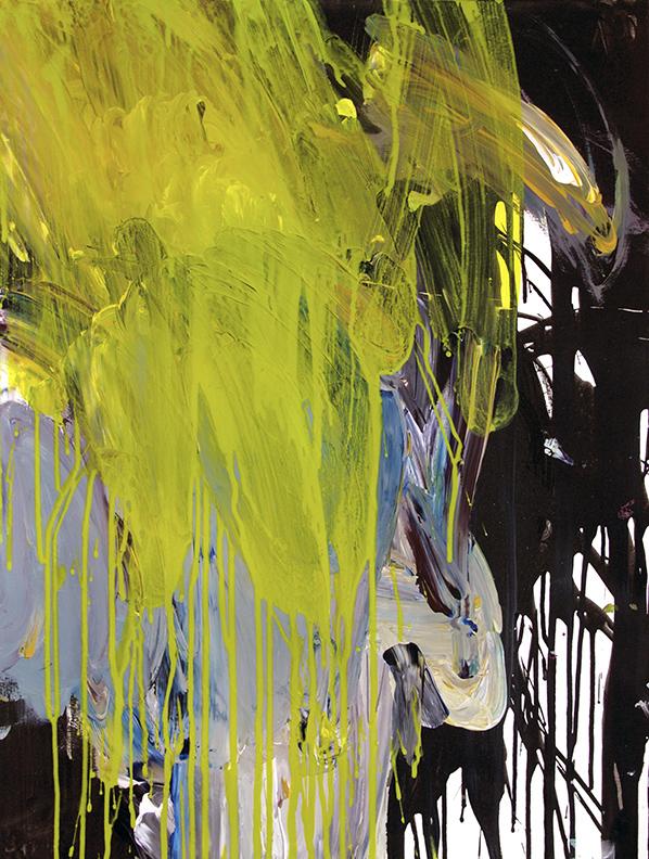 "Acrylic on paper, 18""x24"", 2016"