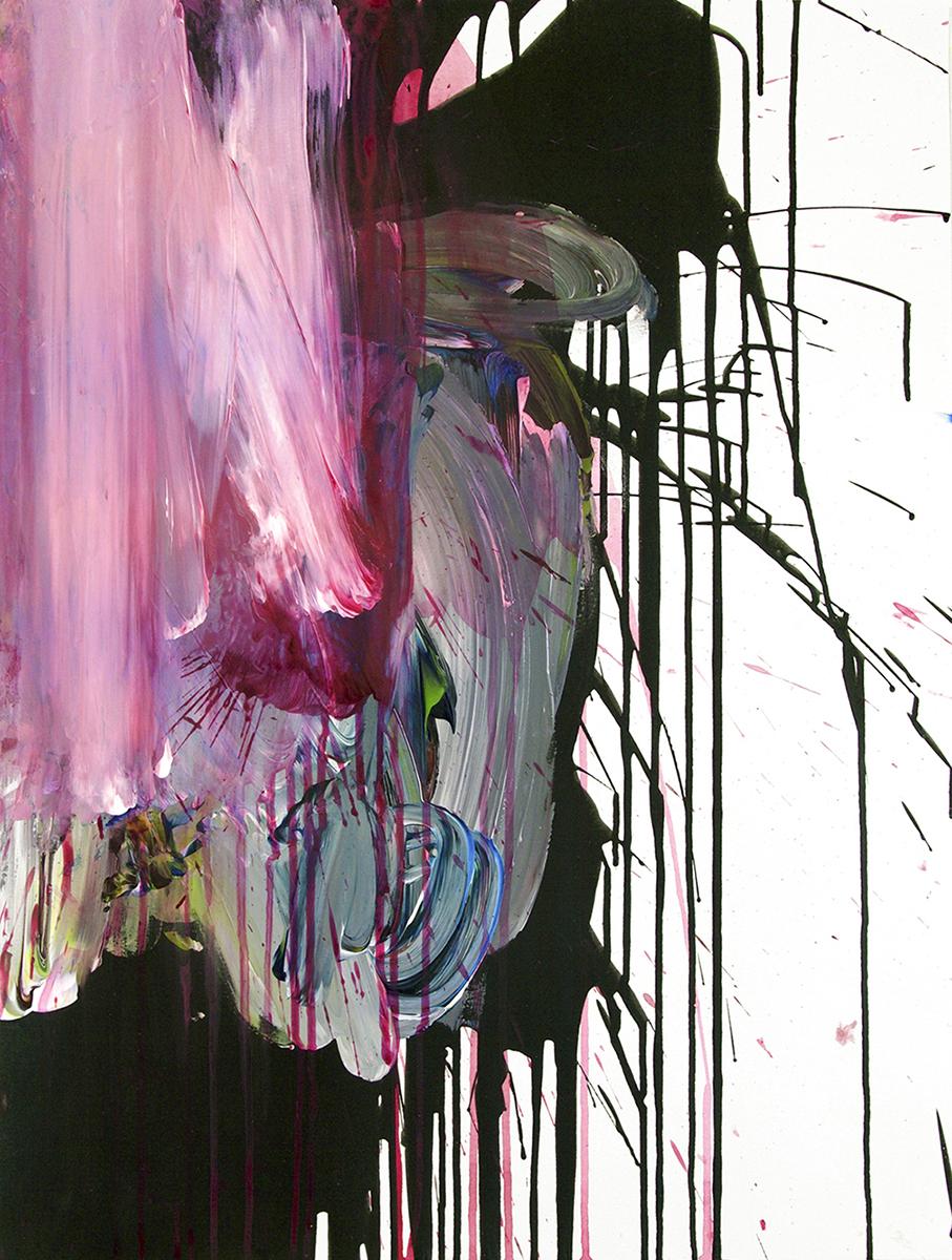 "Acrylic on paper, 24""x18"", 2016"