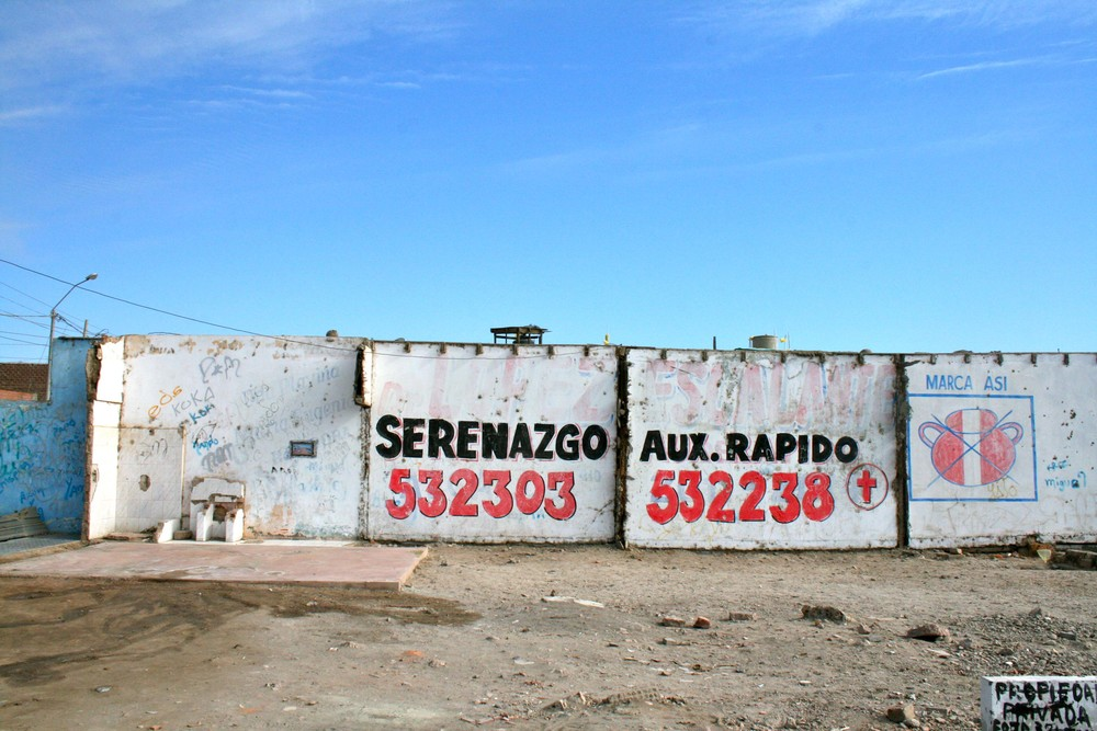 Typical wall in Pisco